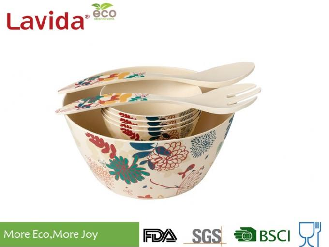 Unbreakable Bio Bamboo Fiber Bowls Phthalate Free Large Size For Indoor / Outdoor