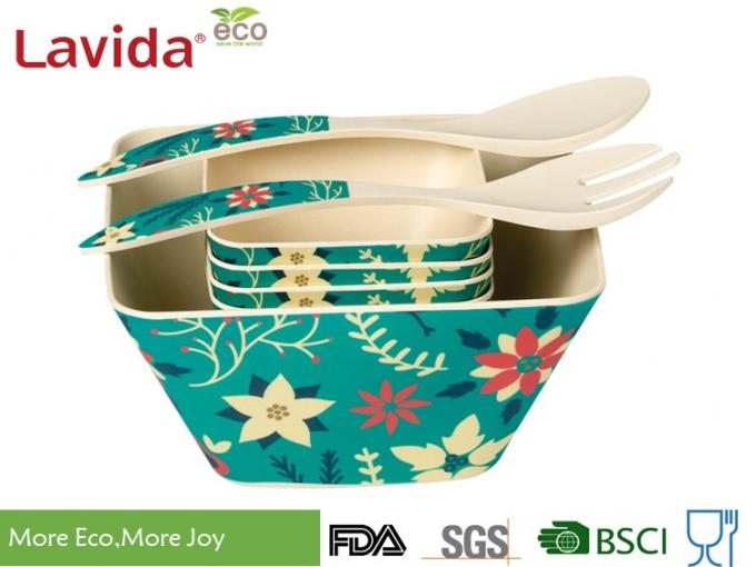 Recycled Bamboo Baby Bowl Set Smooth Surface More Endurable Than Porcelain Products