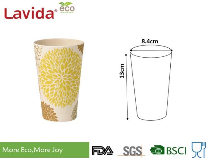 15.6oz 440ml Bamboo Fiber Tumbler Smelless Safe Heavy Metals Free For Special Event