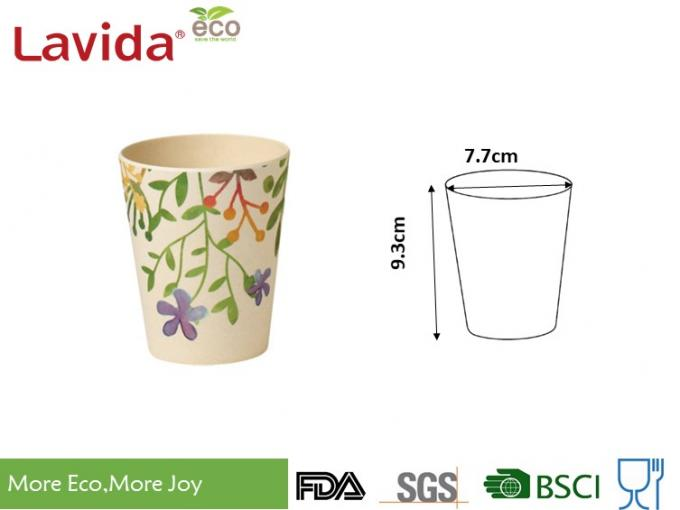 Durable Biodegradable Bamboo Fibre Coffee Cup Waterproof With Delicate Appearance