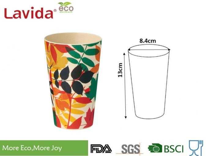 Heavy Metal Free Bamboo Fiber Tumbler Heat - Resistance For Restaurant / Cafeteria