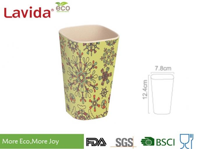 Small Size Recycled Bamboo Fiber Tumbler Dishwasher Safe Phthalate / Formaldehyde Free