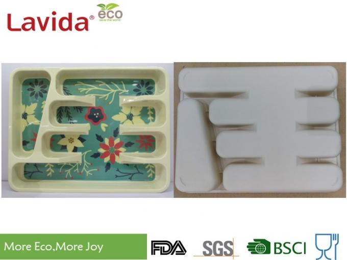 Professional Restaurant Use Bamboo Lunch Trays Non - Toxic Environmental Friendly