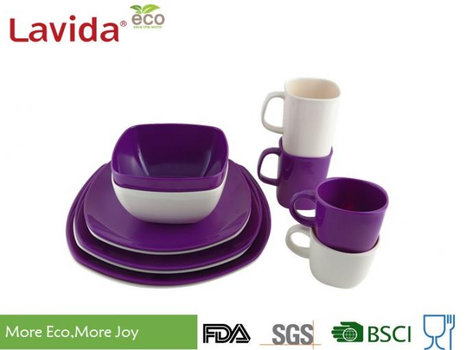 Dishwasher Safe Melamine Picnicware Set Non - Flammable High Temperature Tolerance