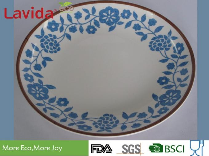 Fresh Contrast Color Melamine Plates And Bowls Anti - Bacteria Safe Contact With Food