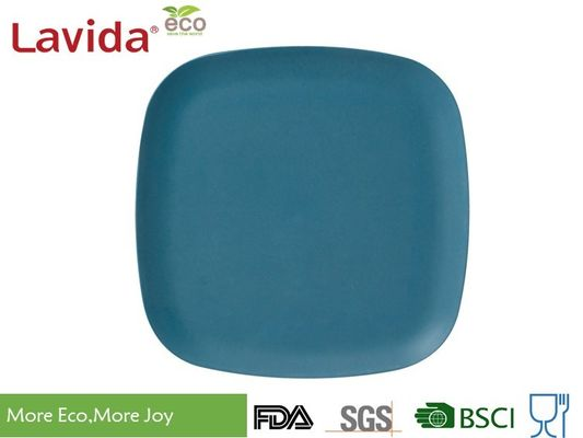 "China Bright Color Durable Bamboo Square Plates BPA / Phthalate Free 10"" 25cm For Cafeteria supplier"