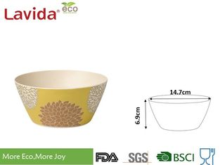 China Daisy Flower Prints Bamboo Kitchen Bowls BPA Free Smooth Surface Mat Finished supplier