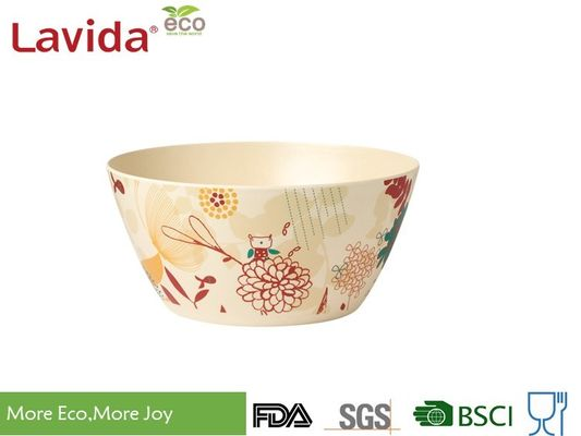 China Unbreakable Bio Bamboo Fiber Bowls Phthalate Free Large Size For Indoor / Outdoor supplier