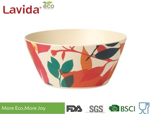 China Christmas Printing Bamboo Fiber Plastic Dinner Bowls Non - Fragile Waterproof supplier