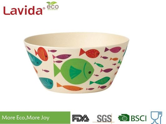 China Anti - Bacteria Disposable Bamboo Bowls Fresh Ocean Fish Design High Strength Durable supplier
