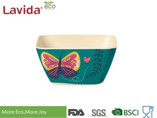 China Unbreakable Bamboo Cereal Bowls Eco - Friendly Garden Butterfly Printing Diverse Styles supplier