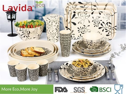 China Modern Pattern Reusable Bamboo Dinnerware Durable Non - Fragile Formaldehyde Free supplier