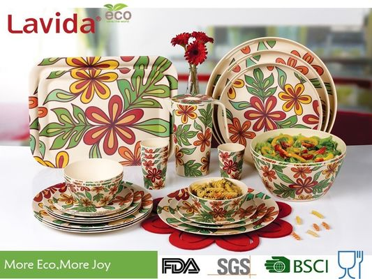 China Shatter - Proof Children's Bamboo Dinnerware High Strength Free Of Heavy Metals supplier