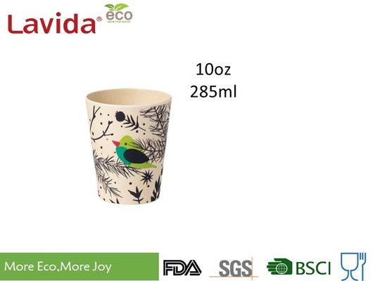 China Mixed Colors Bamboo Fibre Eco Cup ​Food Grade Material Anti - Bacteria 10oz Volume supplier