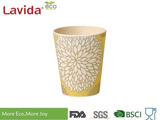 China Leak Proof Bamboo Fiber Cup Easy Cleaning Heat Resistance For Indoor And Outdoor supplier