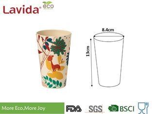 China BPA Free Bamboo Fibre Eco Cup 15.6oz 440ml Non - Fragile With Unique Rustic Texture supplier