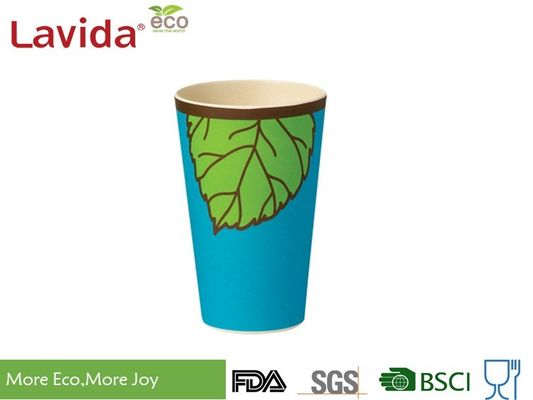 China Blue And Green Color Bamboo Fiber Travel Mug Single Use Environmental Friendly supplier