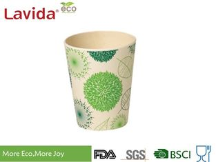 China Small 10oz 285ml Round Bamboo Fiber Cup , Bamboo Fibre Coffee Cup For Home / School supplier