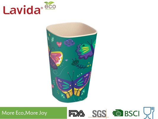 China Solid Blue Organic Bamboo Fiber Travel Mug Heavy Metal Free Tasteless Shatter Proof supplier