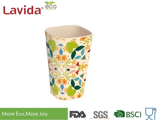 China Tall Straight Bamboo Fibre Coffee Cup Non - Toxic Endurable Light Weight With Decal supplier