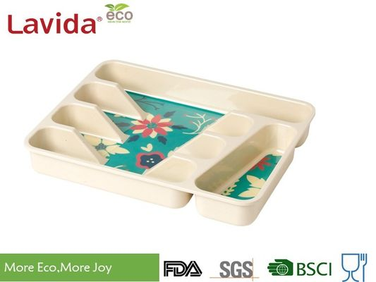 China Professional Restaurant Use Bamboo Lunch Trays Non - Toxic Environmental Friendly supplier