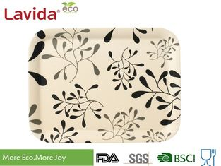 China Tasteless Bamboo Fiber / Melamine Snack Tray Unbreakable Vintage Flower Style supplier