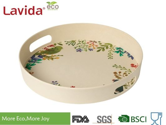 China Reusable Recycled Bamboo Fiber Food Serving Trays 3-PC Set Bright Color Smelless supplier