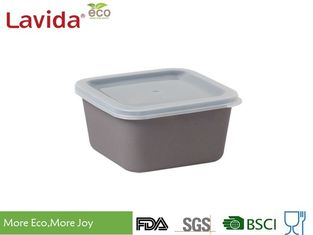 China Gray Sandwich Bamboo Fiber Square Storage Boxes Smooth Surface CE / FDA Standard supplier