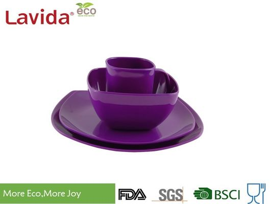 China Dishwasher Safe Melamine Picnicware Set Non - Flammable High Temperature Tolerance supplier