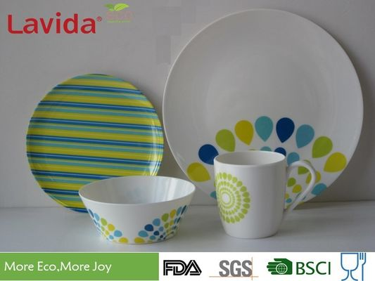 China Peacock Style Melamine Dinnerware Sets Smooth Surface Durable Heat Resistance supplier