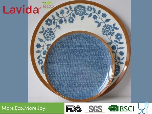 China Fresh Contrast Color Melamine Plates And Bowls Anti - Bacteria Safe Contact With Food supplier