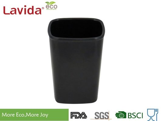 China Black Home Use Melamine Coffee Mugs , Food Grade Ceramic Coffee Cup Square 300ml supplier