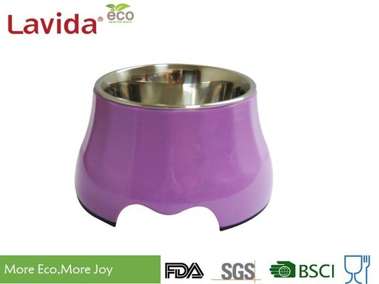 China High End Latest Design Melamine Pet Bowl , Round Shape Stainless Steel Pet Bowls supplier