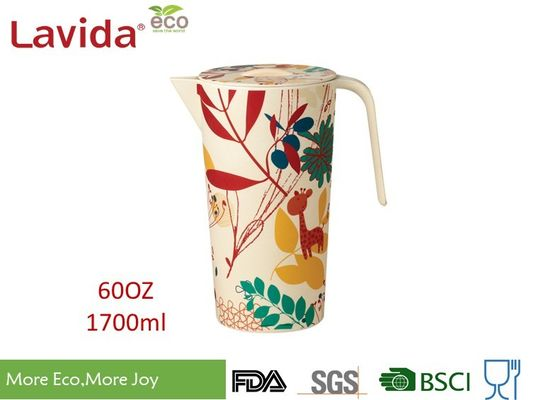 China Recycled Wearable Bamboo Water Jug Plastic Water Pitcher Customized Prints supplier
