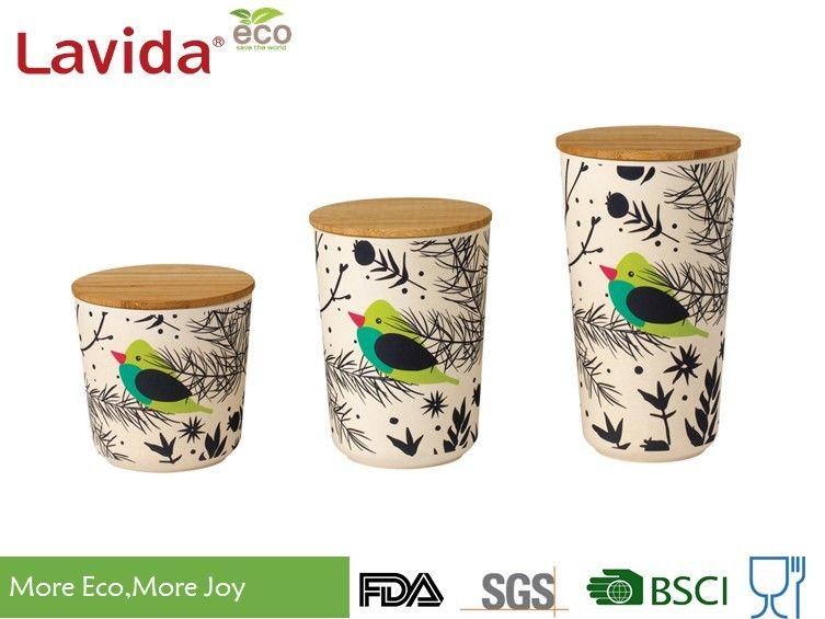 Customized Printing Bamboo Fiber Storage Box Anti Bacteria