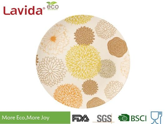 "Mixed Colors Non - Odor Bamboo Fibre Plates , Round 8""/20cm Bamboo Recyclable Plates"