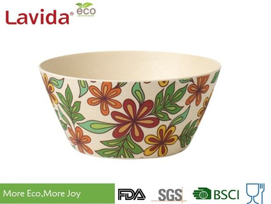 Popular Latest Design Bamboo Fiber Bowls Round Shape With Decal Paper Printing
