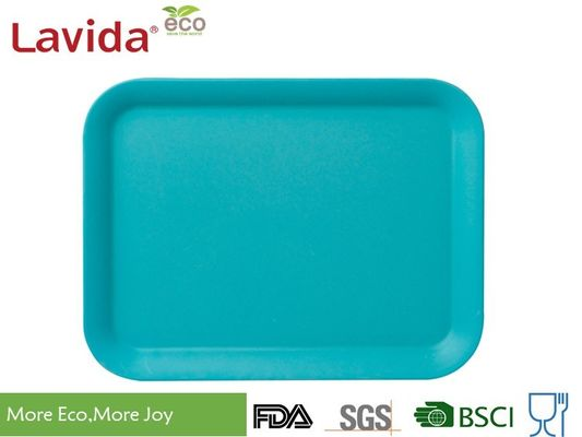 High Strength Solid Color Bamboo Fiber Tray American Style Low Thermal Conductivity