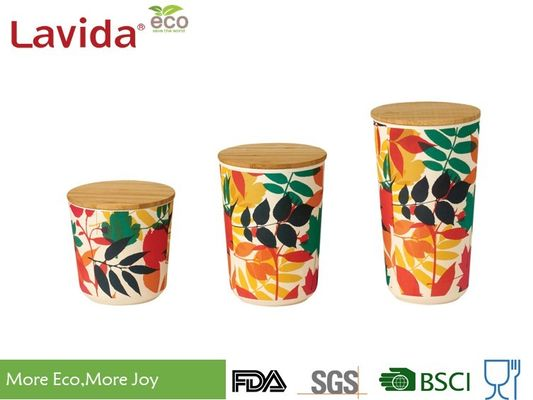 China Cookie Bamboo Fiber Storage Box Customized Design Printing Free Of Heavy Metals factory