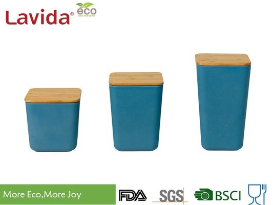 China Biodegradable Natural Bamboo Fiber Storage Box , Food Storage Containers With Lid Wooden Lid factory