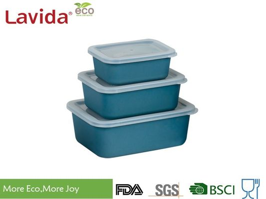 China Non - Fragile Bamboo Fiber Storage Box , Transparent Lid Food Grade Material Storage Boxes factory