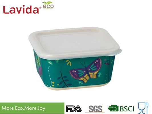 China BPA Free Durable Bamboo Fiber Containers High Temperature Tolerance Dishwasher Safe factory