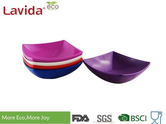 Durable Square Melamine Plates Bowls BPA Free Custom Made With Printing Logo