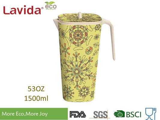 Disposable Plastic Beverage Jug FDA Pass Dishwasher Safe With Obstract Flowers Prints