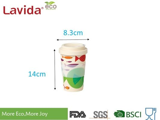 Biodegradable Take Away Coffee Mugs BPA / Heavy Metals Free With Chic Patterns