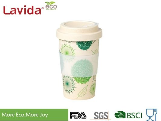 China Durable Shatter Proof ECO Bamboo Takeaway Coffee Cup Customized Decal Matt Finish factory
