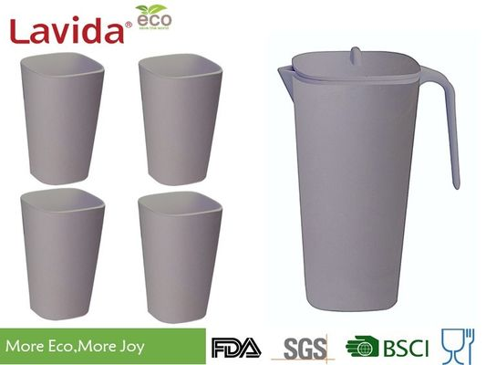 Non-Toxic Environmental Friendly Bamboo Water Jug Plastic Pitcher Beverage Jug With Customized Prints and Color