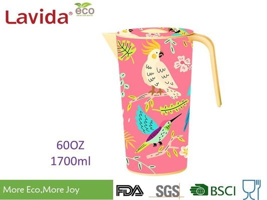 Heat Resistance 100% Food Grade Safe Bamboo Water Jug Disposable Beverage Jug Contemporary Style with LOGO and Prints