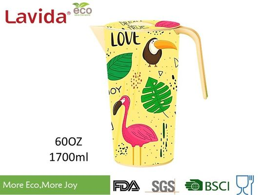 FDA LFGB Standards Bamboo Water Jug Stylish Design High Temperature Tolerance Oddorless Durable Recycled